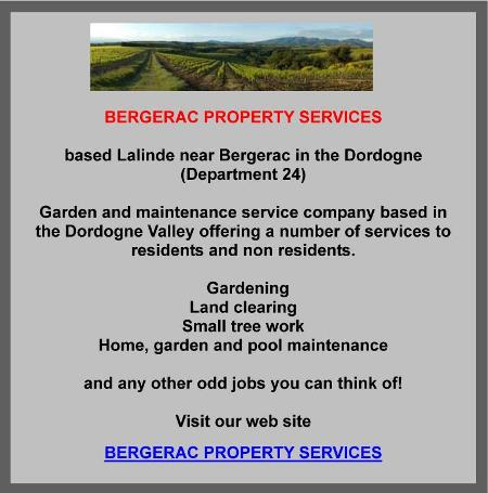 Bergerac Property Services, Lalinde, Bergerac, Dordogne, garden and property maintenance, land clearing, small tree work, pool maintenance