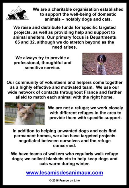 Les Amis des Animaux,charity for dogs and cats